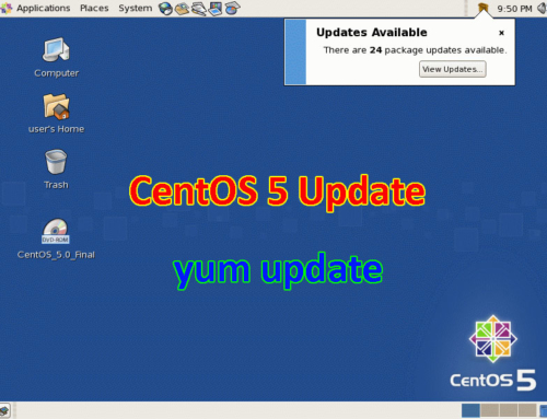 CentOS 5 – How to setup update