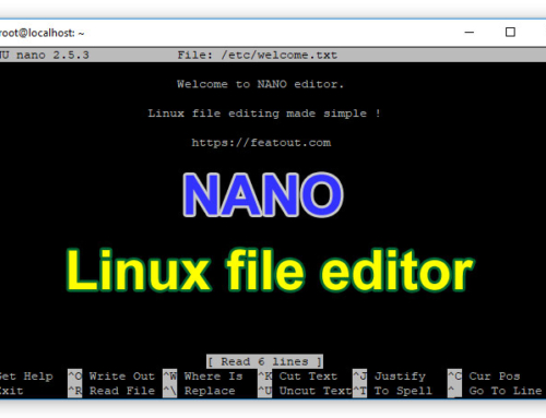 Simple uses of nano editor – Easy Linux