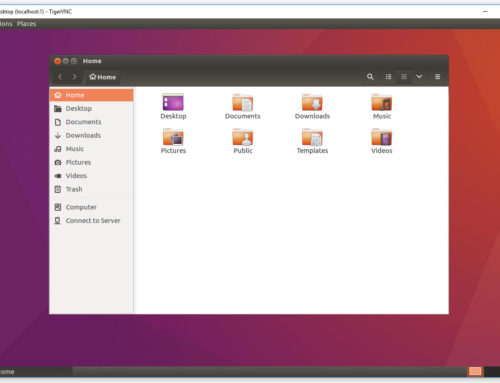 Linux Server in Graphical Mode – Ubuntu